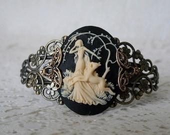 Goddess Diana Cuff Bracelet wiccan jewelry pagan jewelry wicca jewelry goddess jewelry witch witchcraft magic metaphysical pagan bracelet
