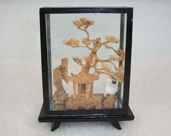 Asian frame with miniature tree