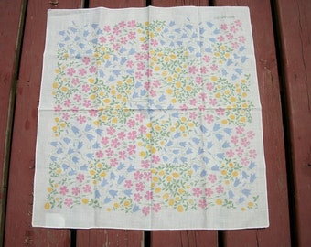 Vintage Beautiful Marimekko Hanky Handkerchief Flowers Pastels
