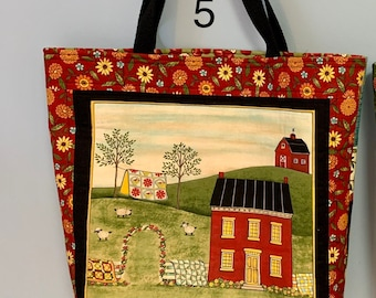 Barn & Quilt Tote Bags
