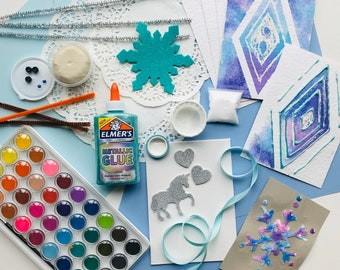 FROZEN 2 Art Box! Ice Princess Arts and Crafts. 6+ art projects in each box. The Crafty Fox Box.