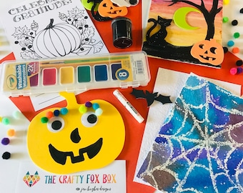 HALLOWEEN mini-kit! Fun for Fall arts and crafts. DIY Halloween Art. Kids Crafts. 4 Projects in One.