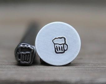 Metal Design Stamp 5mm Metal Stamping Tool-Steel Stamp-Steel Punch-Metal Supply Chick Metal Stamp Beer Mug Metal Stamp