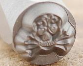 Sugar Skull Metal Design Stamp-Measures approx 6mm Metal Design Stamp-Metal Stamping Supplies