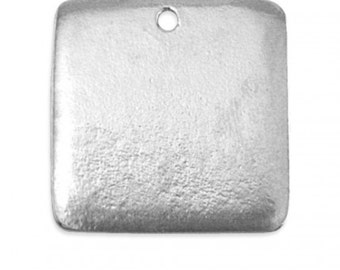 Pewter Stamping Blank-Square 3/4 inch You Get 4- Impressart  Achieve an Organic Look in Your Stamping