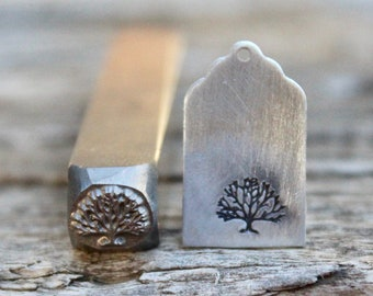 Tree Metal Stamp-Avant Garde Super Metal Design Stamp-9mm-Rated for Stainless-Metal Supply Chick