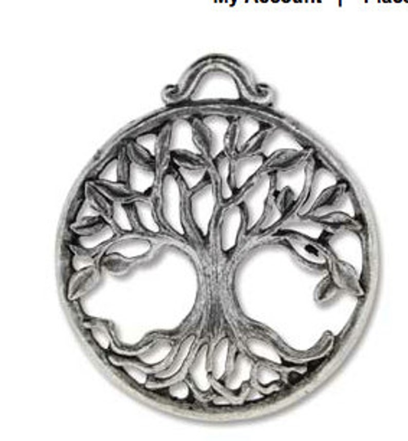 Tree of Life Casting- Antique Silver 25 x 30 mm  Approx  1 1/4 inch x 1  inch Antique Silver Finish You Get 2-Darling to add to your Jewelry