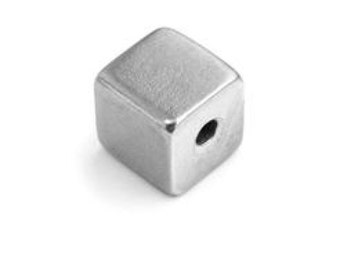 Pewter Stamping Blank-Cube- Large one at 1/2 inch QTY. 1 CUBE  Impressart  Achieve an Organic Look in Your Stamping