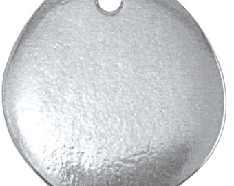 Pewter Stamping Blank-Circle River Stone  3/4 inch  You Get 2- Impressart  Achieve an Organic Look in Your Stamping-You GET 2