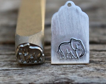 Elephant Metal Stamp-Avant Garde Super Metal Design Stamp-9mm-Rated for Stainless-Metal Supply Chick
