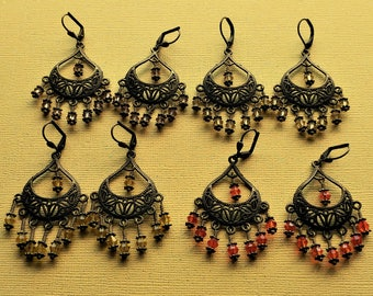 Gypsy Mystique Bohemian Chandelier Steampunk Pirate Cosplay Earrings