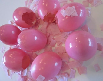 Gender Revealing Pink And Blue Confetti Eggs Cascarones