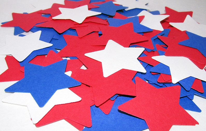 4th of July Confetti Red White Blue Wedding Birthday Decoration 100 pieces