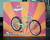 schwinn stingray blacklight poster vintage bicycle banana seat