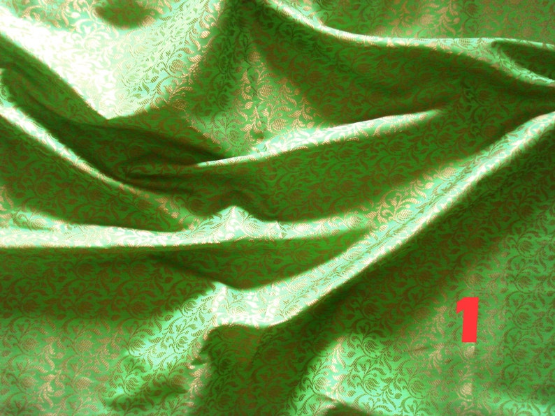 5 yards total brocade fabric bundle set of 5 brocade fabrics