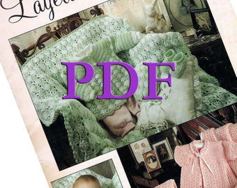 PDF - Crocheted Layettes for Baby, 1990