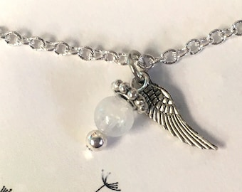 Gift Under 20, Angel Wing Necklace, Gift for Her, IVF, IUI, Ready to Ship Gift, Stocking Stuffer, Secret Santa, Infertility, TTC, Healing