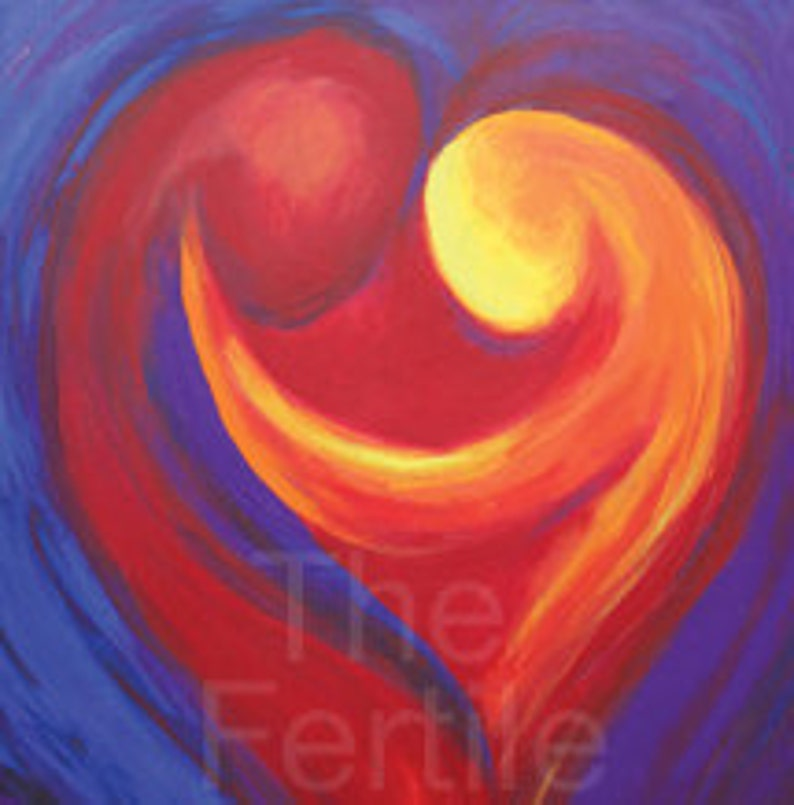 Fertility Art Print  My Heart My Love  Inspiring and image 0
