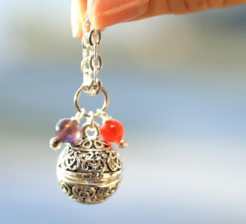 Fertility Wish Box Prayer Necklace Religious Jewelry image 0
