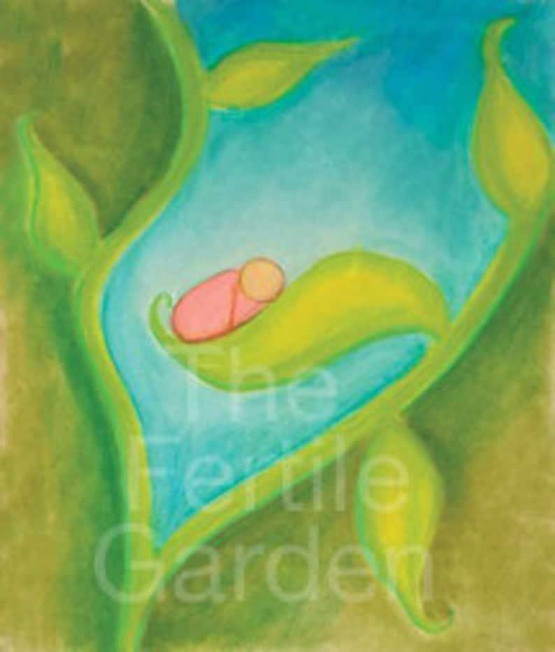 Fertility Art Print Inspiring Art Positive Art Baby Art image 0