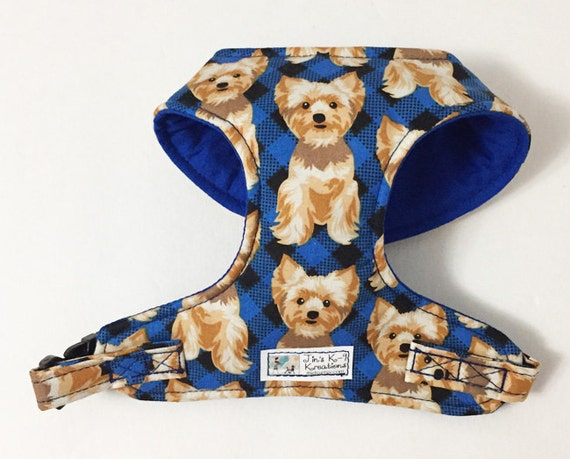 Yorkie Comfort Soft Dog Harness Made to Order