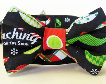 Mustache Adjustable Dog Collar - Made to order -