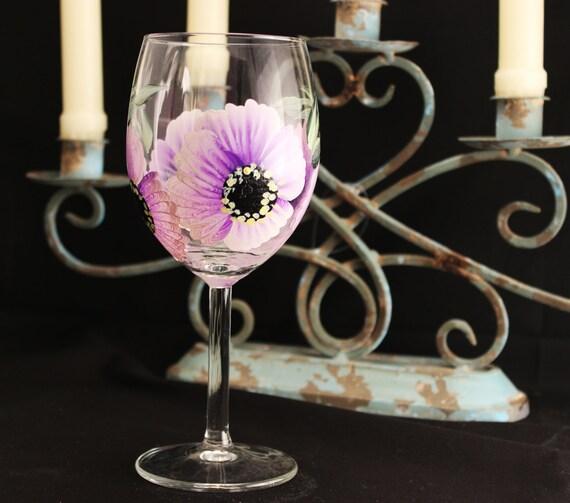 Custom Painted Hand Painted Wine Glass Stemware 1 Hand Etsy