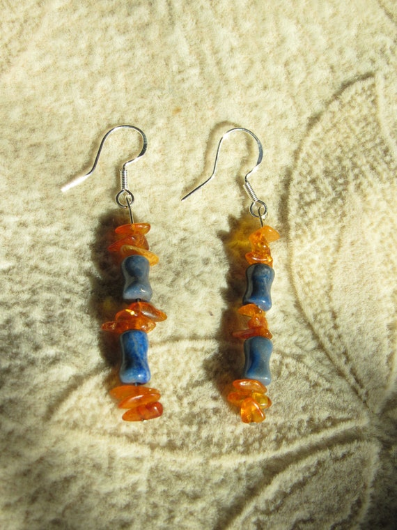 Crystals For Wisdom. Gemstone Earrings Turquoise Stones 925 Sterling Silver Earrings