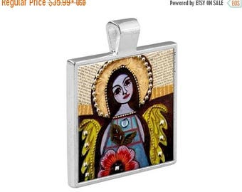 virgin of guadalupe necklace mexican folk art jewelry pendant metal gift art heather galler gift vegan gifts