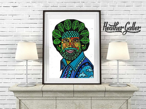 Flash Sale Bob Ross Art Print Poster By Heather Galler Etsy