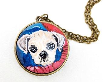 Shih Tzu Jewelry- Custom Dog Necklace- Two Pet Necklace- Pet Loss Gift- Custom Pet Portrait- Personalized Dog Necklace- Dog Memorial Jewelry
