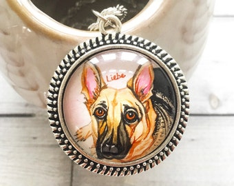 Dog Memorial Necklace, Dog Memorial Jewelry, Pet Memorial Necklace, Custom Dog Necklace, Dog Remembrance, Dog Loss Necklace, Gifts for Her