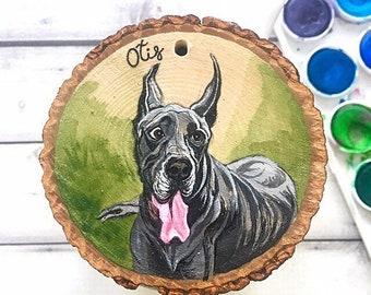 Hand Painted Pet Ornament, Pet Memorial Ornament, Pet Ornaments, Custom Dog Ornament, Custom Pet Ornaments, Custom Christmas Ornaments