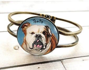 Personalized Pet Bracelet, Pet Memorial Bracelet, Puppy Bracelet, Pet Loss Gift, Dog Loss Gift, Custom Dog Bracelet, Pet Memorial Jewelry
