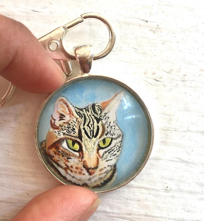 Cat Loss Gifts Cat Gifts Loss of Cat Cat Portrait Custom Cat Memorial Keychain Cat Cat keychain Cat Memorial Gift In Memory of Cat