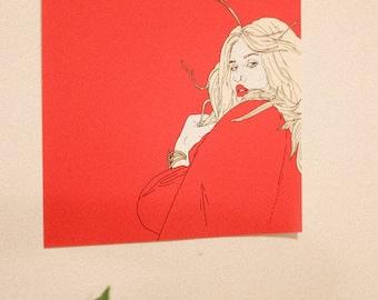 Kesha Red Print
