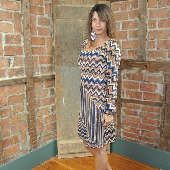 Missoni knit ZIG ZAG Dress long sleeve