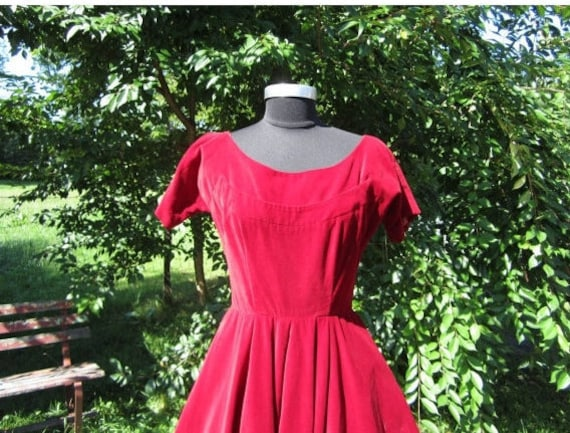 Vintage 1950's Dress Anne Forgarty Fit & Flare Ful