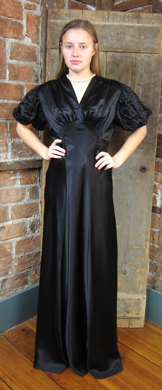 1930s gown Dress. Mourning Gown Dress. Goth Gown - image 4