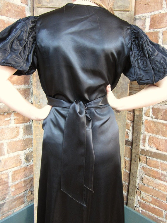 1930s gown Dress. Mourning Gown Dress. Goth Gown