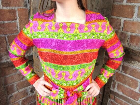 1960s BOHO dress/ Festival Maxi Dress / Hippie Dre