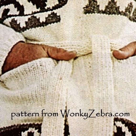 Hombre chaqueta Vintage tejer patrón PDF 724 Starsky Hutch | Etsy