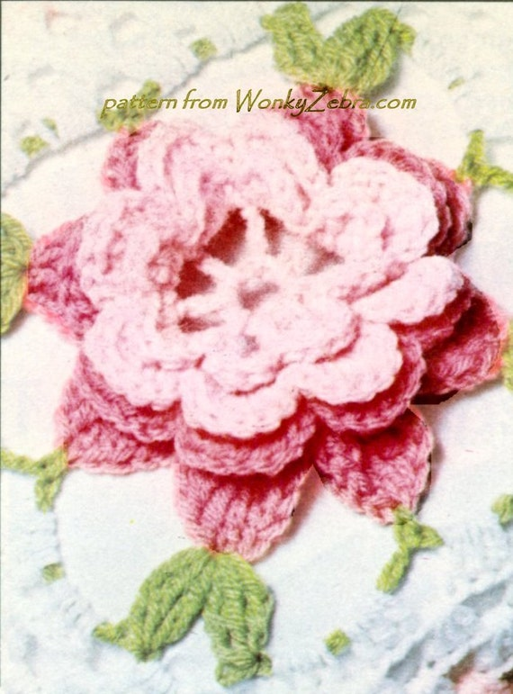 Rose häkeln Tagesdecke Vintage Muster PDF und Bonus Blume | Etsy