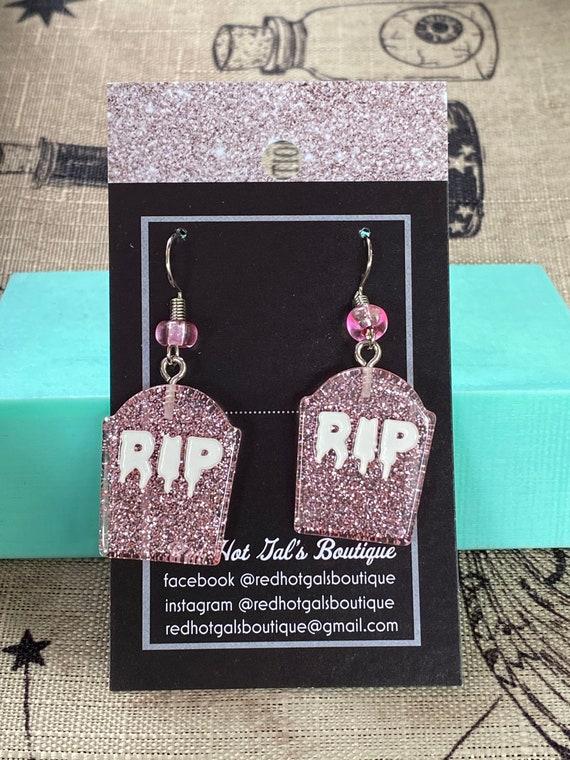 Halloween Tombstone Earrings