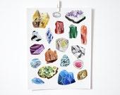 Gemstones, 11x14 print