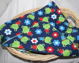 Frog Flannel Swaddle Blanket
