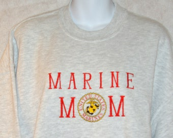 1538e4d5d7 US Marine Mom Sweatshirt, USMC Military Family Items, Custom Grandparent  Birthday Gift, Nana, Grandpa, Mimi, Grammy, Ships Today, AGFT 187