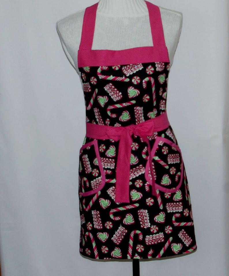Custom Gift Full Long Bib With Pockets Matching Family Aprons Ships TODAY AGFT 1233 Personalize With Name Christmas Apron Mom Sister