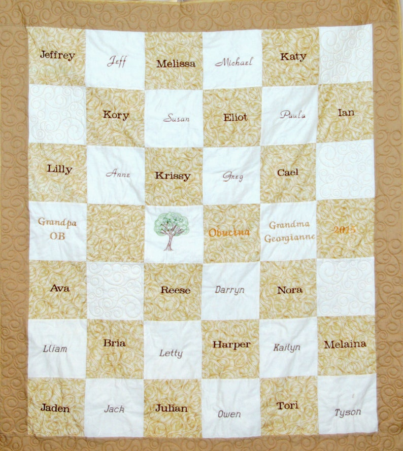 AGFT 1149 Custom Personalized Throw With 25 Students Names Teacher Appreciation Quilt School Aide Retirement Preschool Principal
