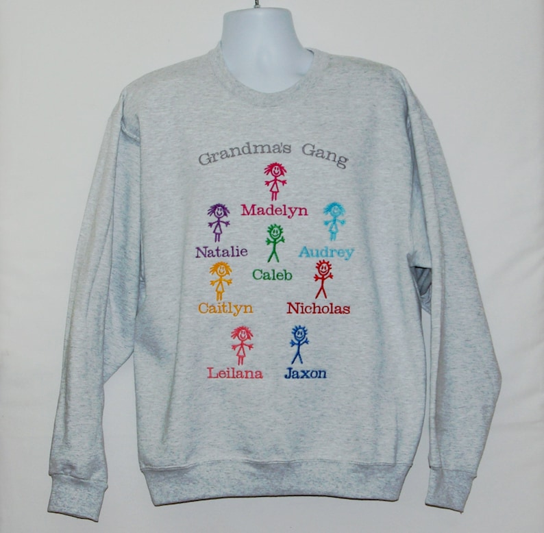 4ee4758a7 Grandma Gang Sweatshirt Custom Personalized Birthday Gift   Etsy